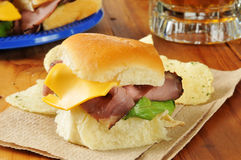 Roast beef sliders Royalty Free Stock Photo