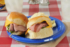 Roast beef sliders Stock Image