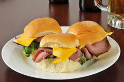 Roast beef sliders Royalty Free Stock Photography