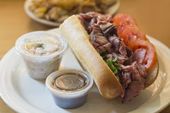 Roast Beef Sub Sandwich Stock Photos