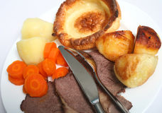Roast beef sunday lunch Stock Images
