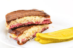 Reuben Sandwich on White Royalty Free Stock Images