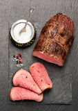 Roast beef. Top view. See series. Royalty Free Stock Photography