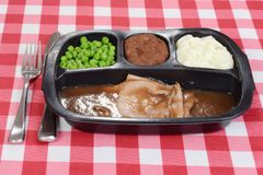 Roast beef tv dinner Stock Photo