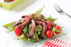 Roast beef and vegetables Royalty Free Stock Photos