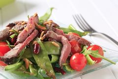 Roast beef and vegetables Stock Photo