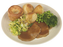Roast Beef with Vegetables Stock Images