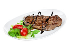 Roast beef on the white Stock Images