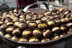 Roast chestnuts Royalty Free Stock Photos