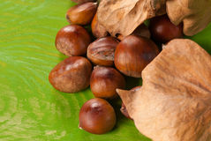 Roast chestnuts Stock Photography