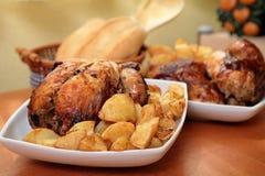 Roast chicken Stock Images