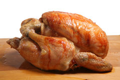 Roast Chicken. Freshly roasted chicken 'resting' before carving Royalty Free Stock Photography