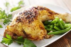 Roast chicken royalty free stock photography