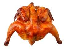 Roast chicken. On white background Stock Image