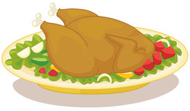 Roast chicken vector illustration