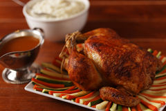 Free Roast Chicken And Sauce Royalty Free Stock Image - 11835586