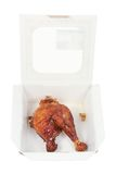Roast Chicken in Box Royalty Free Stock Photos