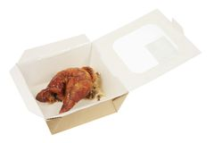 Roast Chicken in Box Stock Photo