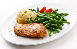Roast chicken breast royalty free stock images