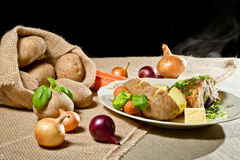 Roast chicken breast with vegetables Royalty Free Stock Image
