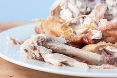 Roast chicken carcass Stock Images