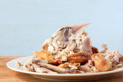Roast chicken carcass Royalty Free Stock Photo