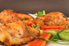 Roast chicken close up Royalty Free Stock Image