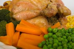 Roast Chicken Close-Up Royalty Free Stock Photo