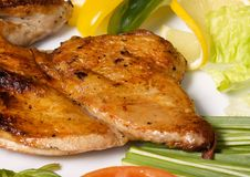 Roast chicken close-up Royalty Free Stock Photos
