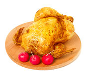 Roast chicken close-up Stock Photography