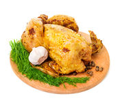 Roast chicken close-up Stock Images