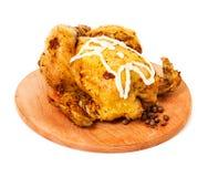 Roast chicken close-up Stock Photos