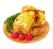 Roast chicken close-up Royalty Free Stock Photo