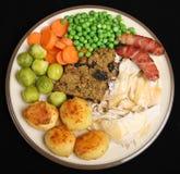 Roast Chicken Dinner Stock Photo