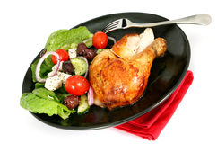 Roast Chicken Dinner Stock Images