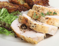 Roast Chicken Dinner Stock Photography