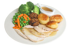 Roast Chicken Dinner Royalty Free Stock Image