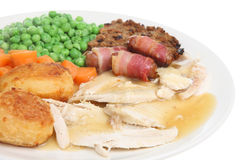 Roast Chicken Dinner Stock Photos