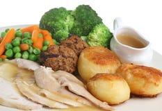 Roast Chicken Dinner Royalty Free Stock Photos