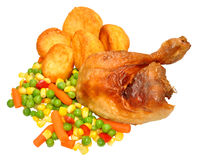 Roast Chicken Dinner Stock Image