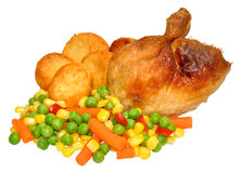 Roast Chicken Dinner Royalty Free Stock Photography