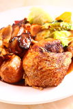 Roast chicken dinner A Royalty Free Stock Photos