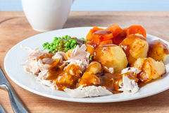 Roast Chicken Dinner Stock Images