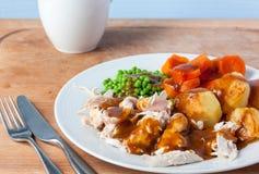 Roast Chicken Dinner Royalty Free Stock Photo