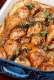Roast chicken drumsticks Stock Image