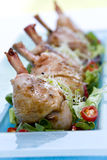 Roast chicken drumsticks Royalty Free Stock Images