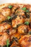 Roast chicken drumsticks royalty free stock photos