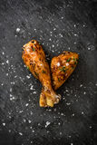 Roast chicken drumsticks Royalty Free Stock Photo