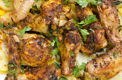 Roast chicken drumsticks Royalty Free Stock Photography