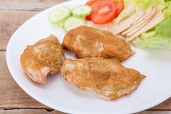 Roast chicken fillet Stock Photo